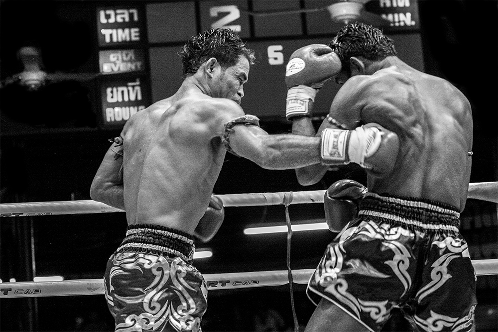 2 fighters in the ring