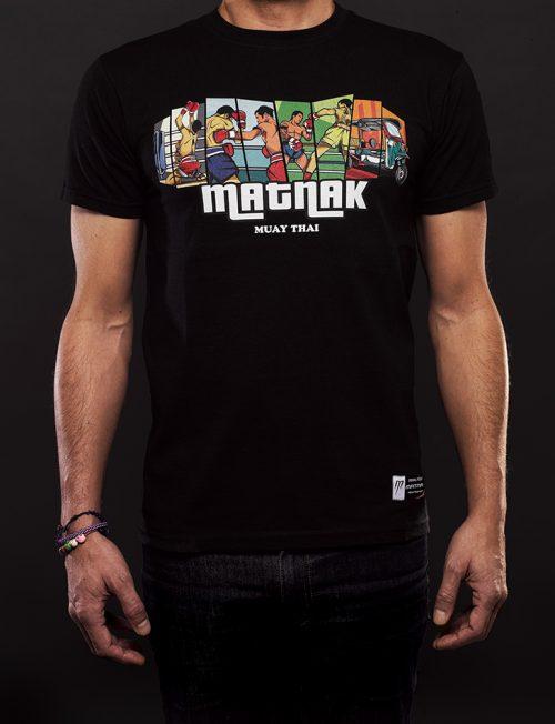 T-shir MATNAK Noir Muay thai